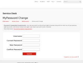 password.its.utas.edu.au screenshot
