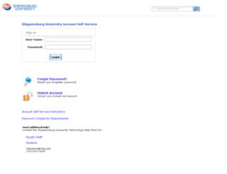 password.ship.edu screenshot