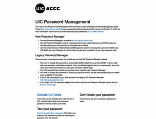 password.uic.edu screenshot