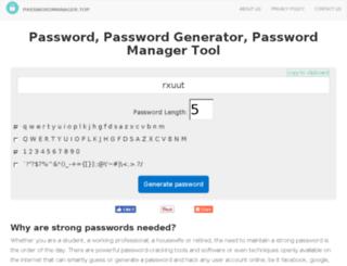 passwordmanager.top screenshot