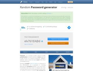 passwordrandom.com screenshot