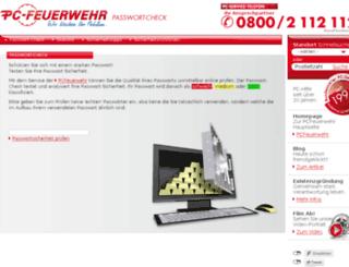 passwortcheck.pc-feuerwehr.de screenshot