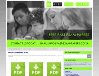 past-exam-papers.co.za screenshot