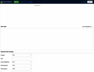 pastebin.com screenshot