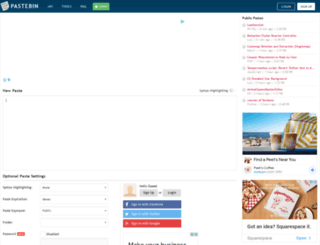 pastebin.org screenshot