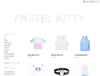pastelkitty.storenvy.com screenshot