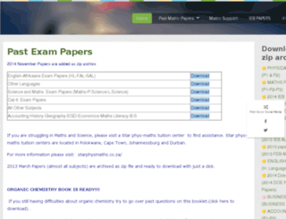 pastmatricpapers.com screenshot