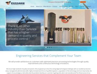 patangeindustries.com screenshot