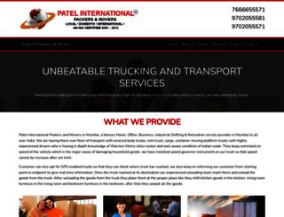 patelintpackers.com screenshot