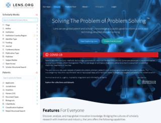 patentlens.net screenshot