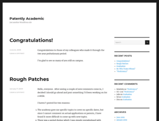 patentlyacademic.com screenshot