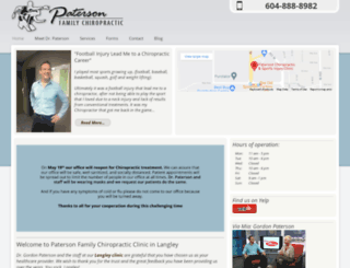 patersonchiropractic.com screenshot