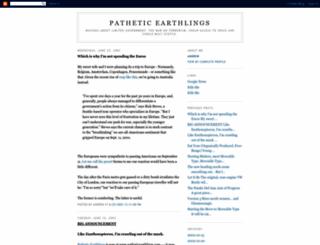 patheticearthlings.blogspot.com screenshot