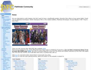 pathfindercommunity.net screenshot