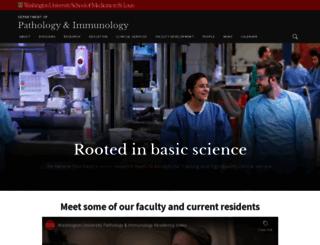 pathology.wustl.edu screenshot