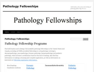 pathologyfellowships.com screenshot