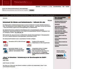 patienteninfo-service.de screenshot