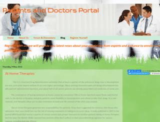 patientsanddoctors.blogspot.in screenshot