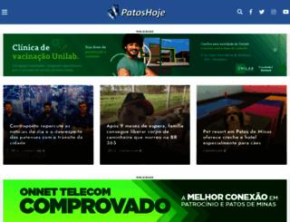 patoshoje.com.br screenshot