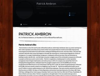 patrickambron.brandyourself.com screenshot