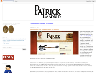 patrickmadrid.blogspot.com screenshot