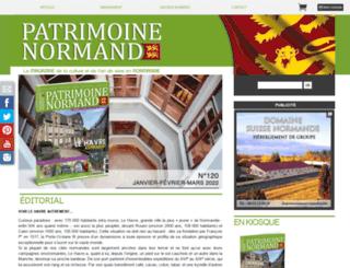 patrimoine-normand.com screenshot