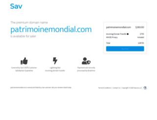 patrimoinemondial.com screenshot