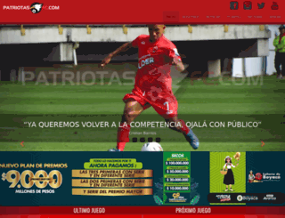 patriotasfc.com screenshot