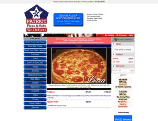 patriotpizza-gardner.foodtecsolutions.com screenshot
