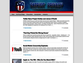 patriotprivacy.com screenshot