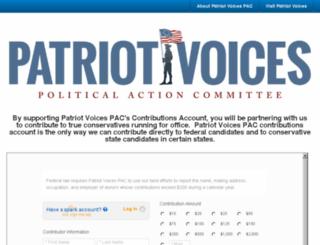 patriotvoicespac.nationbuilder.com screenshot
