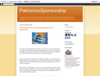 patrociniosponsorship.blogspot.com screenshot