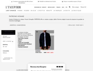 patrons.lexception.com screenshot