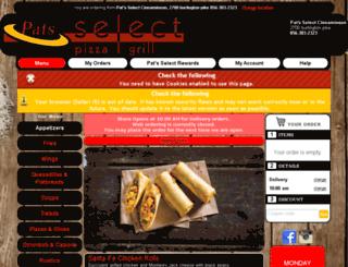 pats-cinnaminson.foodtecsolutions.com screenshot