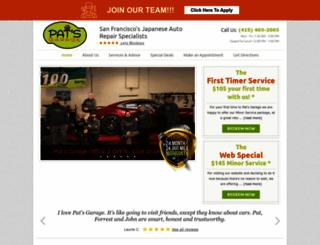 patsgarage.com screenshot