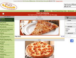 patspizza-williamstown.foodtecsolutions.com screenshot
