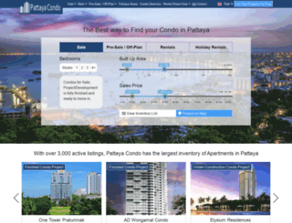 pattayacondo.com screenshot