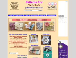 patternsforcrochet.co.uk screenshot