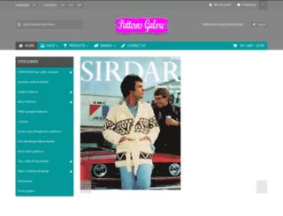 patternsgalore.co.uk screenshot