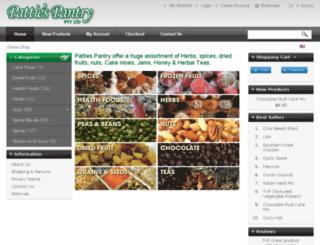 pattiespantry.com.au screenshot