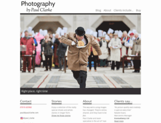 paulclarke.com screenshot