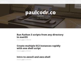 paulcodr.co screenshot