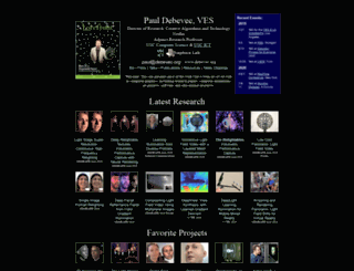 pauldebevec.com screenshot