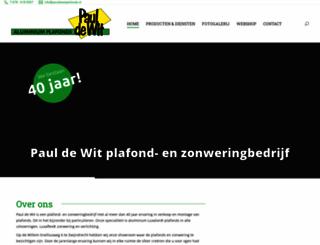 pauldewitplafonds.nl screenshot