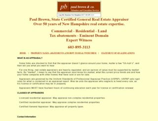 paulebrownappraisals.com screenshot