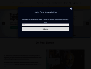 paulekman.com screenshot