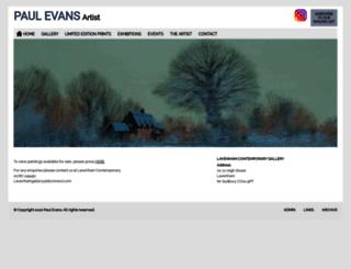 paulevans-artist.co.uk screenshot
