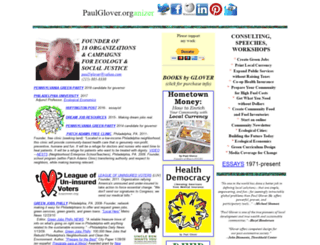 paulglover.org screenshot