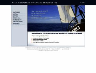 paulgoldstein.com screenshot