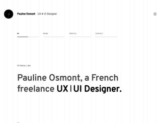 paulineosmont.com screenshot